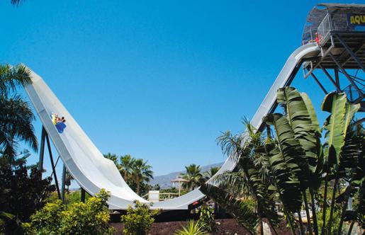 Dare to ride the Boomerang at Aqualand Torremolinos. © Aqualand, Torremolinos.