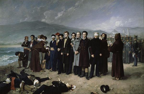 Boyd and Torrijos are executed on San Andreas beach, Malaga