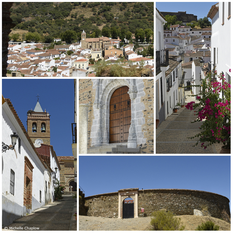 Traditional Andalucian Arcitecture, in Almonastaer la Real, including the bullring, Sierra de Aracena ( Click to enlarge images) © Michelle Chaplow ©Michelle Chaplow