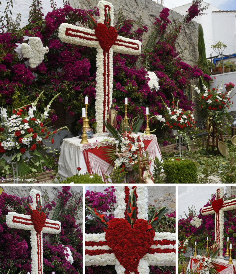 The May Crosses festival, Cruces de Mayo, In the Plaza Juan Bazan, Estepona ( Click to enlarge images ) ©Michelle Chaplow