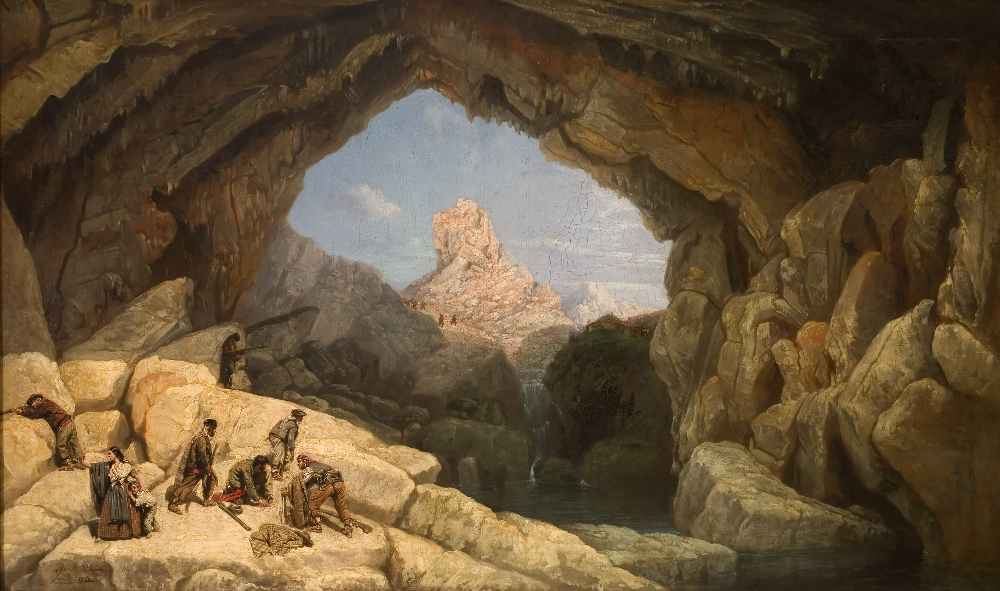 La Cueva del Gato - Oil on canvas by Manuel Barró 1860 - Musea de Bellas Artes de Sevilla ©