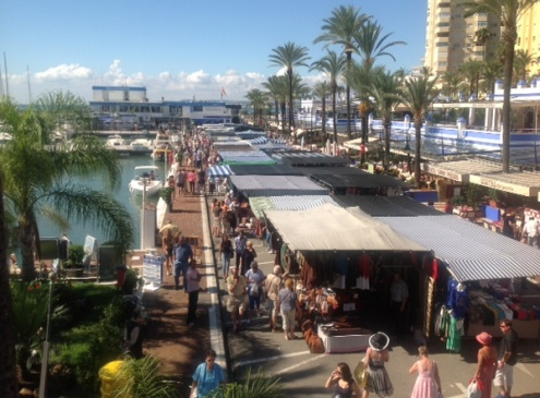 Estepona tourist market in the Marina.