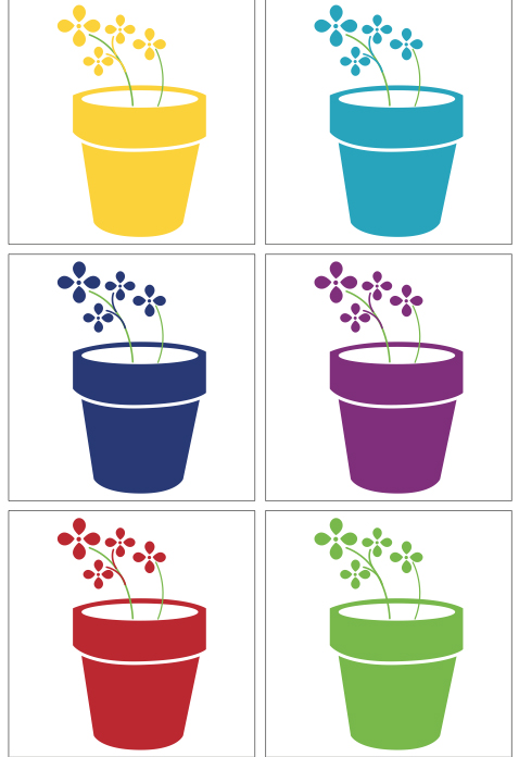 Flowerpot team colours ©Michelle Chaplow