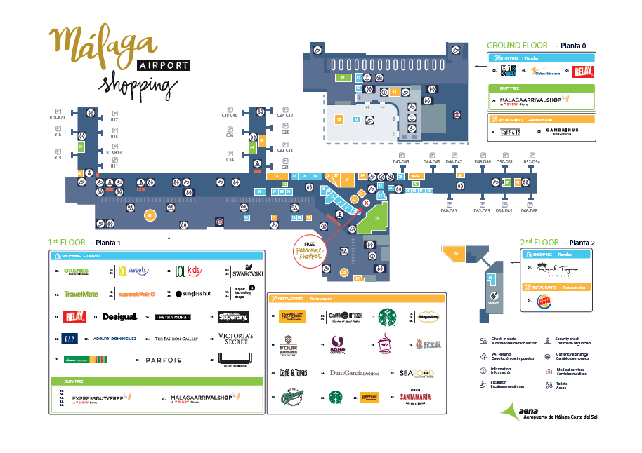 Malaga Airport Shopping - Floor Plan ©