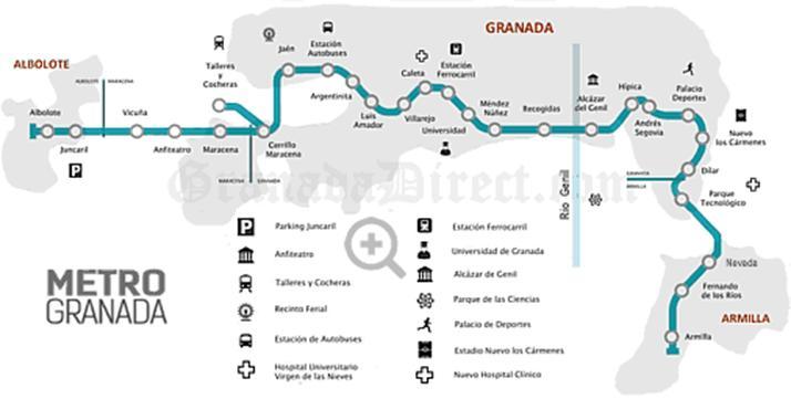 Granada Metro Line Map ©