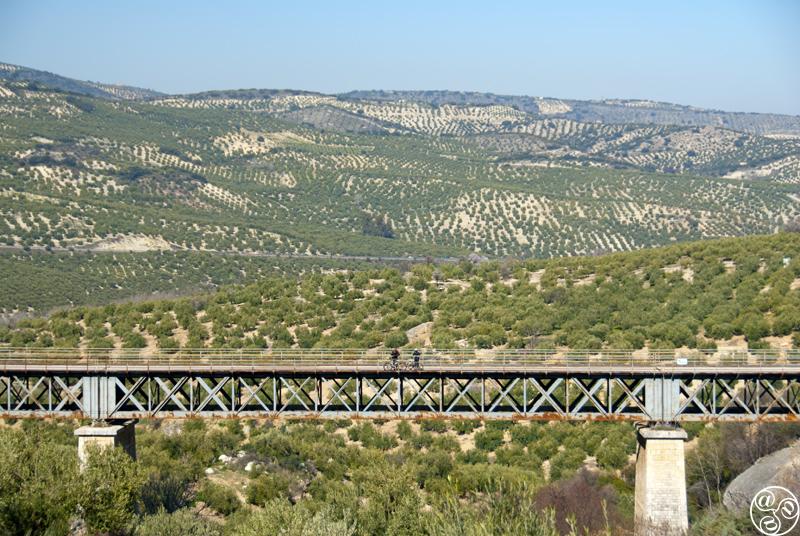 Puedes seguir la Vía Verde de la Subbética, una línea del ferrocarril antigua, por pie o bici desde Luque hacia Zuheros ©Michelle Chaplow