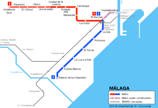 Malaga Metro | Malaga underground | Andalucia.com on map of andalucia, map of puerto rico gran canaria, map of iruna, map of mutare, map of sagunto, map of cudillero, map of bizkaia, map of getxo, map of tampere, map of macapa, map of marsala, map of mount ephraim, map of costa de la luz, map of italica, map of soria, map of isla margarita, map of monchengladbach, map of venice marco polo, map of penedes, map of graysville,