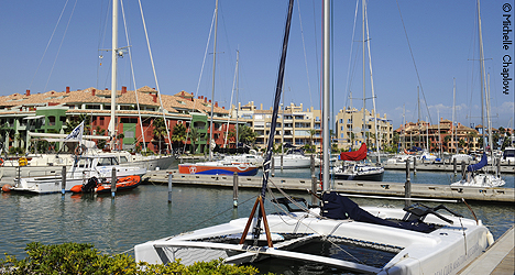 The Sotogrande Marina is in keeping with the luxury feel of the surrounding area. © MVC