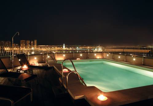Rooftop pool in the Molina Lario Hotel