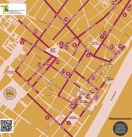 Plan of the 2016 Patios in El Puerto de Santa Maria ©