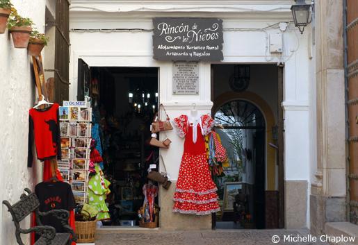 Quaint Souvenir shops in Arcos de la Frontera. ©Michelle Chaplow