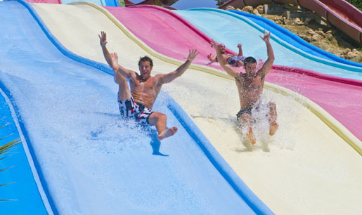 Slide races at Aquavelis water park, Malaga. © Aquavelis, Malaga