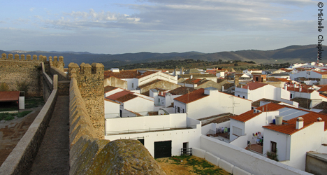 Views from the castle of Cumbres Mayores © Michelle Chaplow
