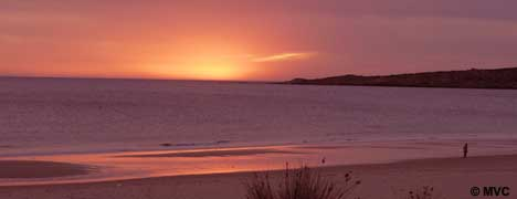 Bolonia beach is renowned for its spectacular sunsets.