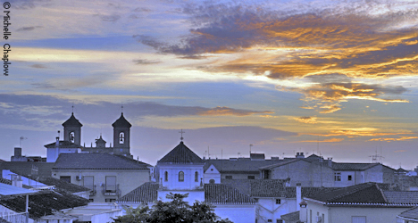 Sunset over the historic centre Santa Fe  © Michelle Chaplow
