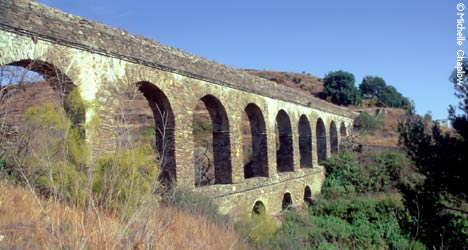The Roman Aqueduct, constructed during the first century. © Michelle Chaplow