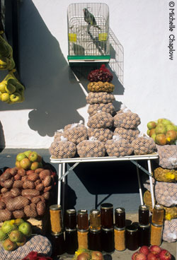 Organic products on sale in the Sierra de Aracena © Michelle Chaplow