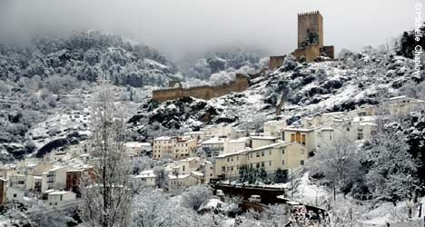 Cazorla in the winter. © Michelle Chaplow