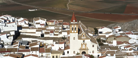 the village of teba in the malaga province andalucía southern spain