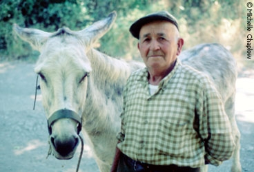 A local with his donkey. © Michelle Chaplow