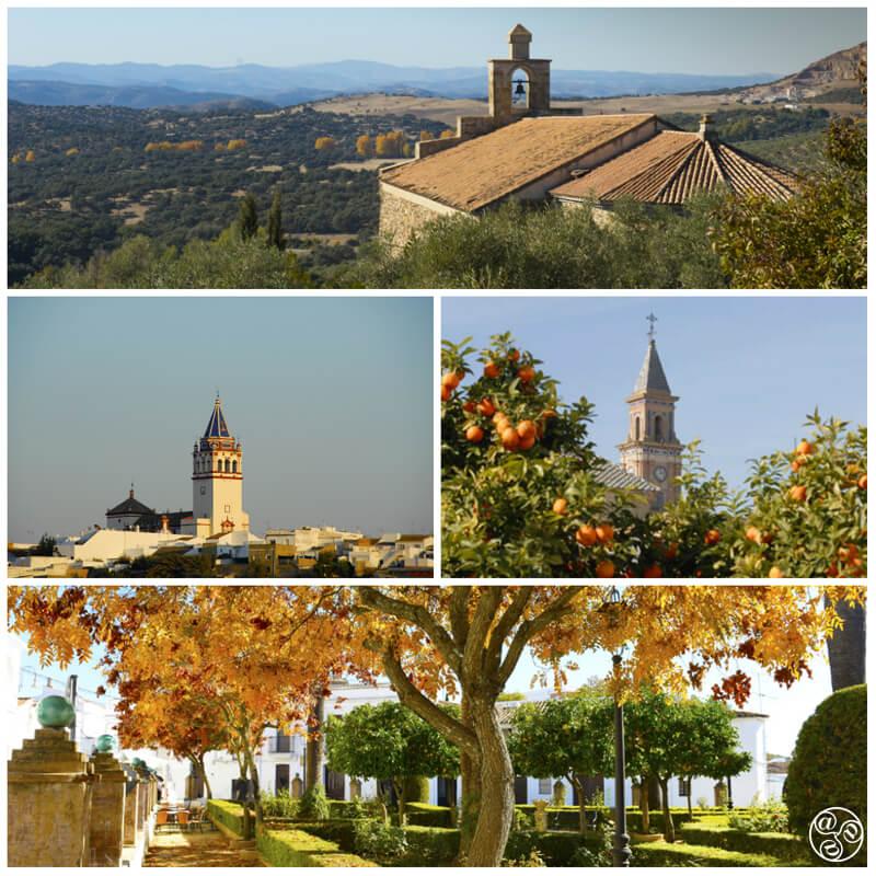 Sevilla villages clockwise: Alanis, Carmona, Cazalla, Utrera © Michelle Chaplow