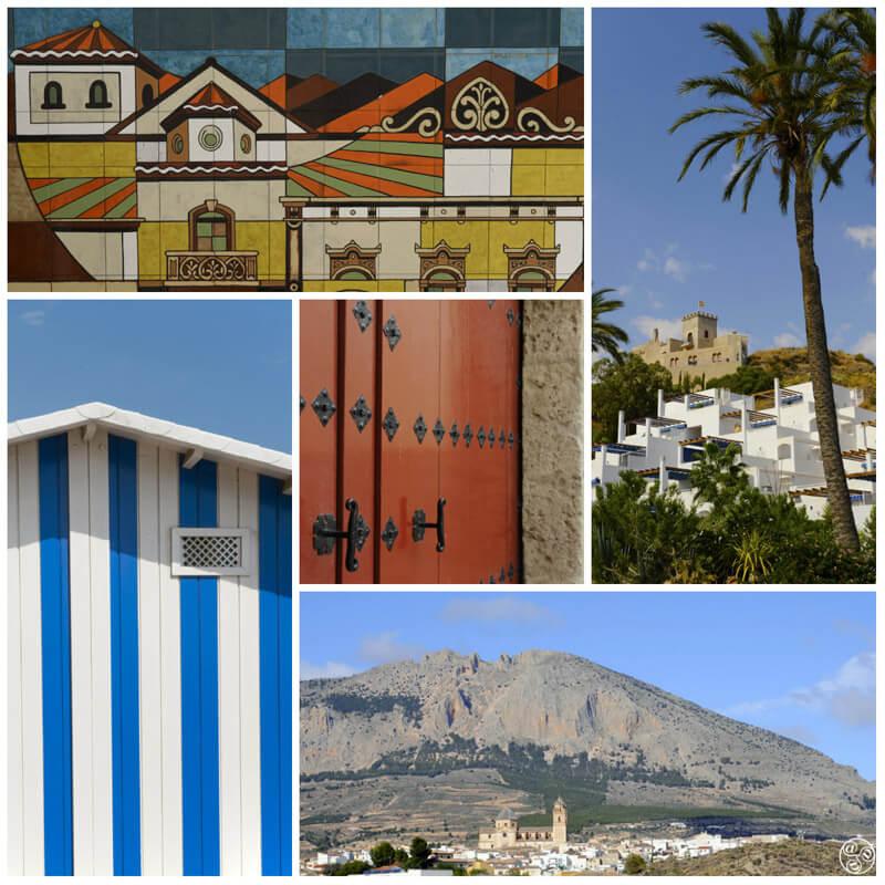 Clockwise: Viator, Mojacar, Velez-Rubio, Mojacar, Albox© Michelle Chaplow