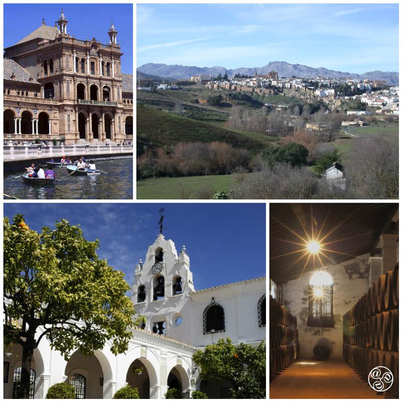 West to Portugal clockwise: Sevilla, Ronda, Huelva, Jerez © Michelle Chaplow