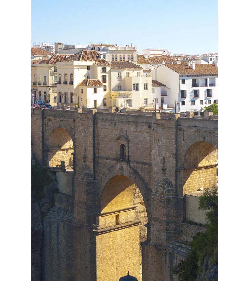 The spectacular setting of Ronda situated  on top a of deep gorge spanned by a magnificent stone bridge © Michelle Chaplow