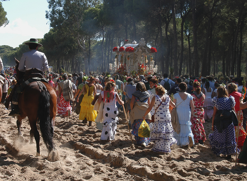 Perhaps the most spectacular romeria is the one devoted to the Virgen del Rocío