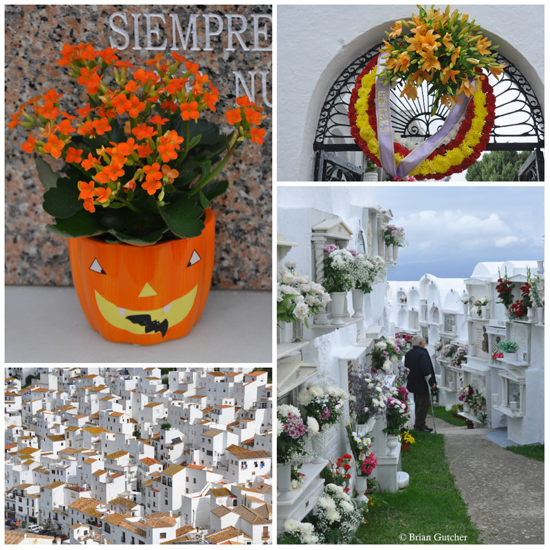 All Saints' Day follows Halloween -  Casares © Brian Gutcher (Click to enlarge)